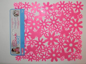 Evri Sink Mat Flower Design Pink 12x10 Size by evri