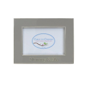 Child to Cherish Mommy & Me Enamelled Frame, Grey