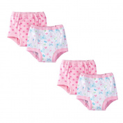 Gerber Baby and Toddler Girls 100% Cotton Training Pants Butterfly Pink 4-Pack