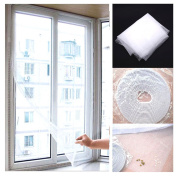 ChineOn DIY Insect Flyscreen Bug Window Yarn Voile Net Mesh Screen Sticky Velcro Tape