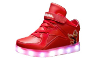 Kids 7 Colour LED Light Up USB Charging Sneakers Trainers Children Flashing Luminous Shoes