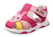 LISA HANDMADE Baby's Closed Toe Sandal Toddler Boys' Walking Shoes (Little Kid) Pink and Rose Red
