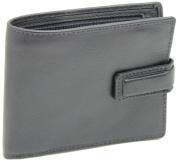 New Mens RFID BLOCKING Premium Quality Genuine Leather Bifold Wallet Zip Coin Pocket
