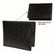 Access Denied RFID Blocking Leather Wallet with Removable ID Passcase