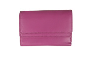 Prime Hide Ultra Soft Ladies Double Flap Leather Purse - 2323