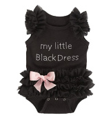 Le SSara Baby Girl Black Princess Romper Baby Bodysuit Costume Outfit