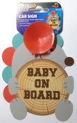Cute Hedgehog Baby On Board Car Sign
