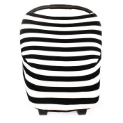 Lovelybaby 3-in-1 Multi-use of Black and white Nursing Cover, Shopping Cart Cover and Baby Car Seat Cover For Gift