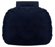 Soft Car Neck Pillow - Microfiber Headrest Support Cushion Pain Relief for Driving - NavyBlue