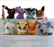 1PCS Pokemon Plush Toys Umbreon Eevee 8 Styles Pikachu Soft Stuffed Ty Plush Animals 13 CM Kids Toys Doll Gift.