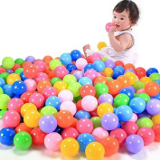 Brisky 100pcs Colourful Ball Fun Ball Soft Plastic Ocean Ball Baby Kid Toy Swim Pit Toy