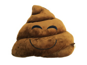 Icons - Cushion emoticon smiley plush toy poop brown smile 30*30 - Quality super soft Original product -caca sonrisa smile-