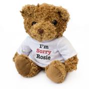 NEW - I'M SORRY ROSIE - Teddy Bear - Cute Soft Cuddly - Gift Present Apology