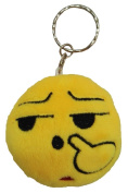 Toyobuy Stuffed Toys QQ Expression Emoji Soft Keychain Mini Plush Toy Nosepick