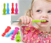 4 pieces Silicone Pencil Topper Teething Pen Cap for Kids Children Students Adults