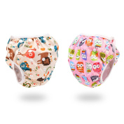 Blulu Adjustable Baby Swim Nappy for 0 - 2.5 Years Old Baby, 2 Pieces