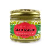 BALM! Baby MAD Rash * Natural Nappy Rash Balm & ALL Purpose Skin Aid * with ZINC {2oz./60mL GLASS Jar}