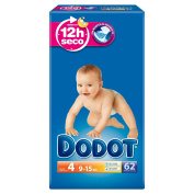 Dodot - Nappies Size 4 (9 - 15 kg), 3 paquetesx 62