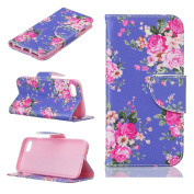 iPhone 7 Wallet case,iPhone 7 Flip Case,Tebeyy Premium Flower Animal Cartoon Pattern PU Leather Wallet Case Cover Pouch [Magnetic Closure] with Card Slots for Apple iPhone 7,Kickstand,Credit Card Holder,Book Style Flip Wallet with 1 x Screen Protector  ..