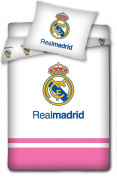 Real Madrid Duvet Cover Bedding Set Pink 100x135 cm