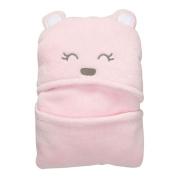 Vine Baby Sleeping Bag Envelope For Newborns Hooded Blanket Coral Fleece Swaddling Bath Towel With Pink