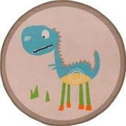 Circular Dinosaur Rug - Natural