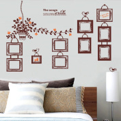 Coribe 10X Europe Brown Photo Frames Art Wall Decal Decor Room Vinyl Removable Stickers