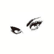Coribe Black Small Sexy Eyes Removable Art Wall Sticker Decal Mural Home Room