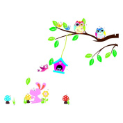Coribe Cartoon Forest Owl Sweet Children's Room Wall Decoration Stickers Home Decor