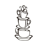 Coribe Coffee Cup Black Stickers Delicious Restaurant Cafe Wall Art Stickers Decal Decoration