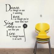 Coribe Daisy Proverbs living room PVC wall stickers English poetry
