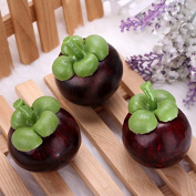 Calli Artificial Mangosteen Mould Decorative Fake Fruit Kids Educational Toys Photo Props