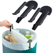 Pggpo Popular Practical Trash Can Clamp Plastic Garbage Bag Clip Fixed Waste Bin Bag Holder Rubbish Clip 2Pcs Set