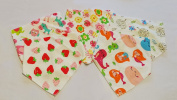 BANACU - Bandana Baby Bibs 100% Pure Cotton - Pack of 5