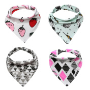 Baby Bibs,Clode® Baby Kids Bandana Bibs Set-4 Pack Feeding Saliva Towel Triangle Waterproof