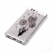 Huawei P9 Soft TPU Case,Tebeyy Ultra Thin Transparent Clear Flexible Silicone Cover for Huawei P9,Colourful Printed Drawing Pattern Premium Protective Back Cover Case for Huawei P9 with Screen Protector & Stylus,Dandelion