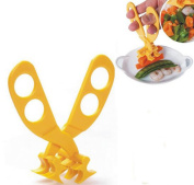 QLIN Baby Food Cutter Scissors Child Supplementary Crushing Clamp Toddlers Versatile Food Shearer Food Cut Tool Safe