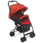 Mee-Go Ultra Lightweight 2-way Facing Feather Stroller - Weighs only 5kgs - Includes Padded Liner, Apron & Raincover - Red