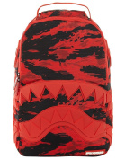 Sprayground Red Tiger Camo Shark Mouth Backpack - Red