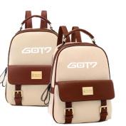 SHINING EASYBUYUnisex GOT7 PU School Bag Outdoor Trip Backpack