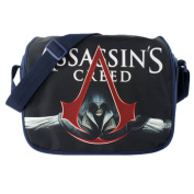 Anime Assassin's Creed Cosplay Messenger Bag Girls Boys Cartoon Shoulder Bags for School as picture 9*26*34cm