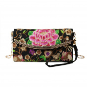 Anself Women's Ethnic Embroidery Long Wallet Purse Clutch Bag Phone Bag Card Coin Holder