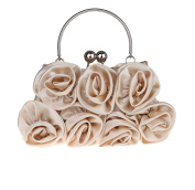 Lovely Satin Party Handbag Flower Pattern Wedding Clutch Purses