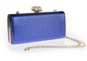 Simple Lovely Pearl Clasp clutch Purse PU Leather Handbag Eveing Party Bag