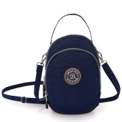 TianHengYi Small Water Resistant Nylon Cross-body Purse Three Layers Cell Phone Pouch Handbag for Teens