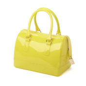 Clear Jelly Candy Colour Handbag Beach Bag Candy Sweetie Mini Satchel Yellow