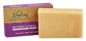 Woolzies - 100% Natural Handmade Soap Bar Shea Butter and Jasmine - 120ml