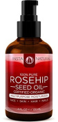 InstaNatural ORGANIC Rosehip Oil - 100% Pure & USDA Certified -HUGE 120ml- Great Moisturiser for Skin, Hair, Stretch Marks, Scars, Discoloration, Wrinkles & Fine Lines - BEST Unrefined, Cold Pressed Virgin Rosehip Seed Oil For Face and Skin by InstaNat ..