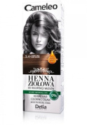 Cameleo Herbal Henna Colouring Cream DARK BROWN 75g Natural Henna extract with Moroccan Oil