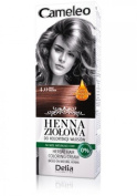 Cameleo Herbal Henna Colouring Cream BROWN 75g Natural Henna extract with Moroccan Oil